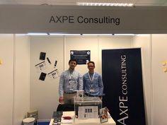 El equipo de AXPE Consulting en la feria de empleo y tecnología Satelec, celebrada en la ETSIT de la Universidad Politécnica de Madrid.  #Feria #Evento #EventosCorporativos #Empleo #Tecnología #Telecomunicaciones