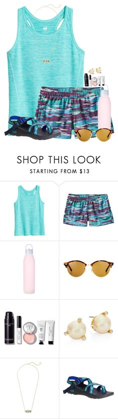 """It's gonna RAIN ☔️"" by flroasburn ❤ liked on Polyvore featuring Patagonia, Ray-Ban, Bobbi Brown Cosmetics, Kate Spade, Kendra Scott and Chaco"