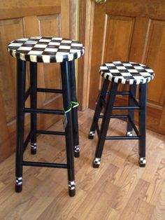 etsy    http://www.etsy.com/listing/68193425/hand-painted-black-and-white-checked-bar?ref=sr_gallery_39_search_query=bar+stool_view_type=gallery_ship_to=ZZ_min=0_max=0_page=3_search_type=all