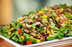 Santa Fe Chicken Salad - Chili's Copy-Cat Recipe. #Delish!