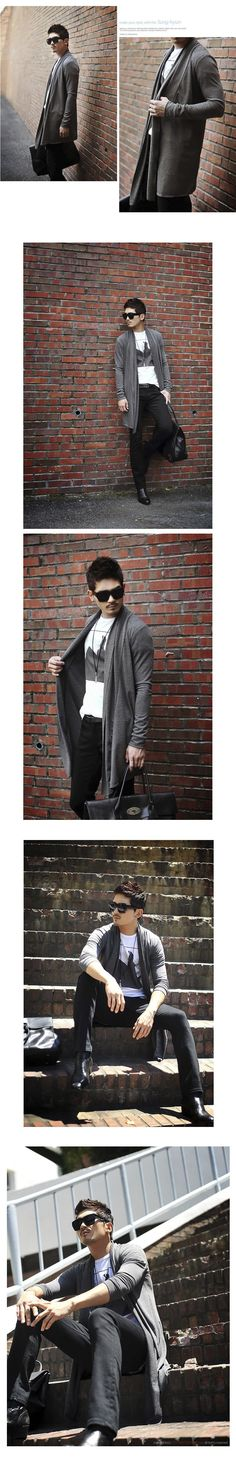Trendy Avant garde Designer Edge Men's Slim Open Shawl Long Jacket Cardigan Mens Cotton Open Stitch Japanese Coat Mens Clothes-in Jackets from Men's Clothing & Accessories on Aliexpress.com | Alibaba Group