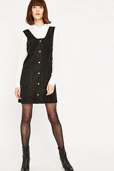 Urban Outfitters Cord Button Pinafore Dress - Urban Outfitters