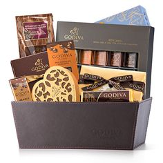 Order Luxurious Godiva Hampers Online For Delivery in Europe.