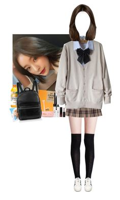 School by rjkpcy on Polyvore featuring polyvore fashion style 3 Concept Eyes adidas Elizabeth and James clothing kpop kpopoc kpopinspired hanui