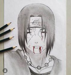 Naruto Sketch Drawing, Anime Boy Sketch, Naruto Drawings, Anime Drawings Sketches, Anime Couples Drawings, Cool Art Drawings, Anime Naruto, Naruto Eyes, Wallpaper Naruto Shippuden