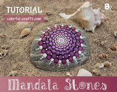 Easy Mandala Stones DIY with a beautiful purple gradient pattern. This tutorial is so much fun to do and you don't need any special skills for it.