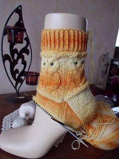 Knitting Patterns Slippers Ravelry: shitara & # s EulensockenRavelry: Shitara owl socks - Everything About Knitting Knitting Patterns Free, Free Knitting, Free Pattern, Crochet Patterns, Crochet Socks, Knitting Socks, Knit Crochet, Knit Socks, Ravelry