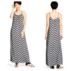 Black and White Chevron Maxi Dress NWOT SML Black and White Chevron Maxi Dress NWOT SML Merona Dresses Maxi