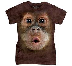 3D Baby Orangutan Ladies Tee Shirt >> http://www.amazon.com/dp/B01GE097XA