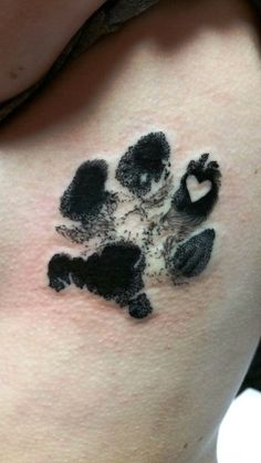 30 Dog Prints Tattoo. (With Daisy's actual paw print)