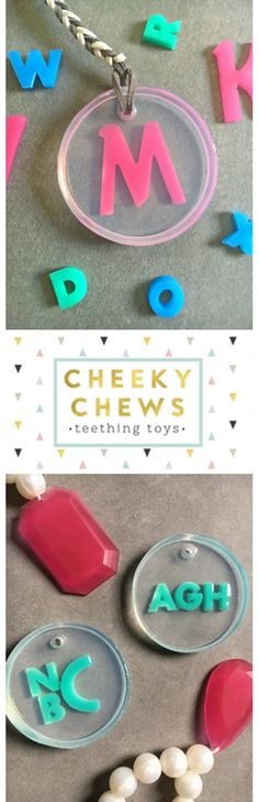 Monogrammed baby teethers make an awesome baby shower gift! Mamas love how cute they are and babies can't wait to chew on the silicone teethers.