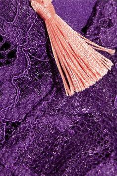 Elle Macpherson Body - Zest Stretch-lace Balconette Bra - Dark purple