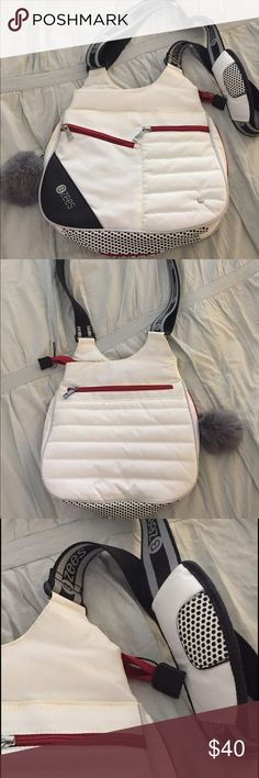 """NWOT White Crossbody Bag BZees Women's White Alpine bag, versatile for everyday use and more. Perfect as a travel bag as well!  Washable nylon material with many pockets - front, side, bottom (to expand as shown), as well as numerous interior pockets for organizing everything.  Adjustable strap with 50"""" total length. 11"""" long, 12"""" high, 3 - 4.25"""" wide. Brand new, never used. B Zees Bags Crossbody Bags"""