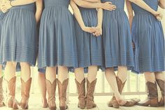 must be the kansas girl in me but i love the idea of cowboy boots for bridesmaids! Especially for a rustic or fall wedding!