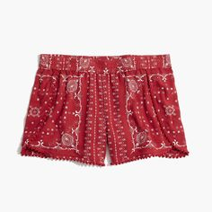 221d8d1ef2 Madewell Womens Oahu Cover-Up Shorts In Vintage Bandana (Size XL, Bandana  Antique