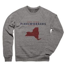 factory price be71a 8e704 Cotton Bureau – New York Local 11 by United Pixelworkers Crewneck  Sweatshirt Size  S Price