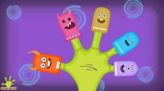 Finger Family (Monster Family) Nursery Rhymes for Children and Babies