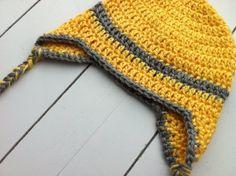 yellow crochet beanie toddler