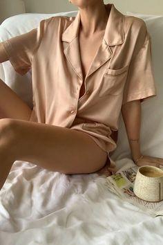 Mode Du Bikini, Foto Instagram, Lingerie Sleepwear, Silk Sleepwear, Nightwear, Beige Aesthetic, Madame, S Models, Lounge Wear