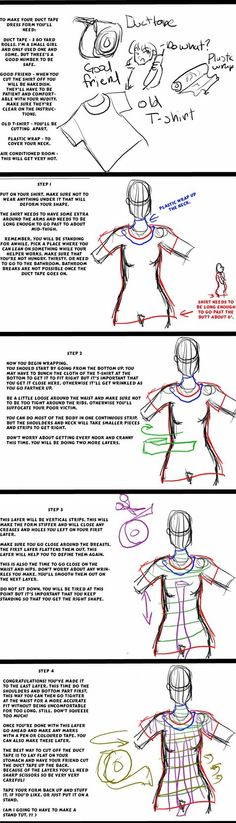 Duct Tape Dressform Tutorial by ~Mredria on deviantART