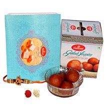 Om Stylo Rakhi with Delightful Sweets