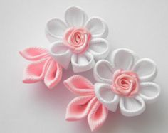 Handmade Kanzashi girls women ladies hair clips bows buy in