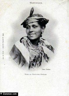 Habitants Martinique : Type et costume créole.