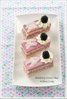 Berry Lovely: Blackberry Coconut Cakes