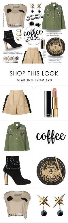 """Rock girl!"" by marta7chi ❤ liked on Polyvore featuring Public School, Chanel, Mira Mikati, Alexander McQueen, Balmain, Kostas Murkudis, Tessa Packard, Noir Jewelry and CoffeeDate"