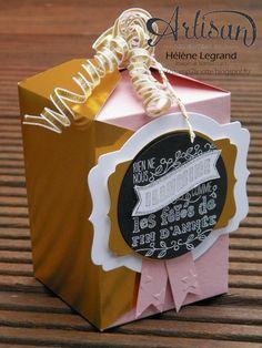 Gift card envelope thinlits - Stamp 2 LiNotte: Des boîtes en or - Stampin'Up ! Artisan Blog Hop - Novembre # 2