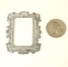 Vintage Dollhouse Miniature Metal Ornate Frame by VintageCreekside, $8.00