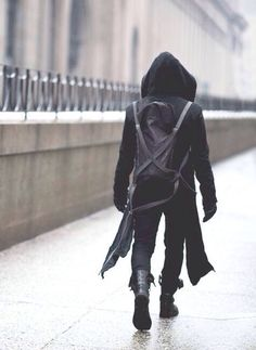 boris bidjan saberi | macabre | dark fashion | goth | obscure | high fashion | black leather bag & jacket