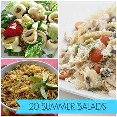 20 ideas for last minute summer salads! The sun will only be out for a little longer and our recipes will make it last!