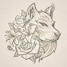 Top work from Dark Art Drawings, Art Drawings Sketches, Cool Drawings, Tattoo Outline Drawing, Outline Drawings, Dog Tattoos, Animal Tattoos, Animal Sketches, Animal Drawings
