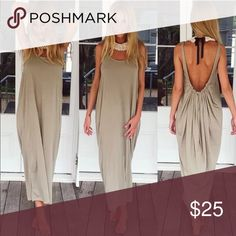 NWT Khaki Summer Boho Backless Maxi Dress NWT Khaki Maxi Summer Boho Dress. This is such a flattering dress and extremely comfortable too. It is one of my favorite dresses I bought all the colors and thought this is a great dress at a great price. NO TRADES, NO PAYPAL AND NO OFFERS. Please ask any questions and God Bless You❤️ Dresses Maxi