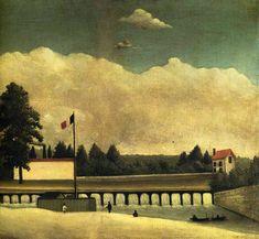 Henri Rousseau — The Dam, 1893, Henri RousseauSize: 46x37 cm...
