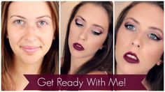 Burgundy Smokey Eye. Perfect for a night out! This is one of my favorite makeup looks