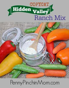 Want to make your own Hidden Valley Ranch Dressing?  We've got the perfect recipe for you! Do you use Hidden Valley® Ranch Mix to make salad dressings, chip dip or even in various recipes? I know I use it quite often. However I hate how much it costs, and even more so I hate all of the unknown ingredients listed on the packaging. This Hidden Valley Ranch Mix Copycat recipe is awesome. Tastes exactly like Hidden Valley brand (or better)!