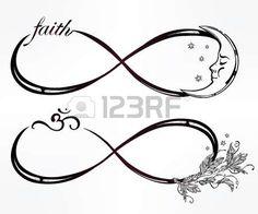simbolo infinito: Mano intricare dibujado signo infinito Mini establecido en el estilo retro vintage. Arte elegante del tatuaje, el romance, el amor, la magia, la libertad, la cocción de chatarra, textiles, invitaciones. Ilustración vectorial aislado. Vectores
