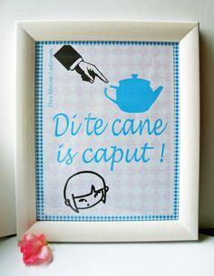 """*Küchenlatein*  *Di te cane is caput - ausgesprochen wird es: """" Die Teekanne ist kaputt""""*    *Für alle die mit ihrem Latein am Ende sind - hier geh..."""