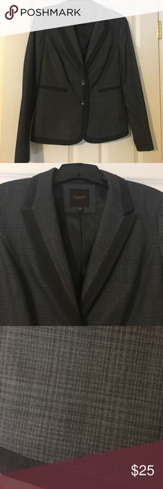 Gray suiting jacket from The Limited Great looking suit jacket from The Limited.  Dark gray edging on lapels, pockets, etc. Dark gray/gray cross-hatch design is subtle, yet gives this jacket character. Only worn a few times - in great condition! The Limited Jackets & Coats Blazers