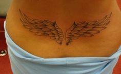 Angel Wings Lower Back Tattoo