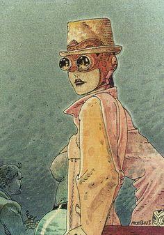 "chorisarautrui: "" ""Okania"" Dessin de l'artiste de Moebius en 1993 """