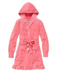 Juicy Couture ruffled & hooded velour bath robe, so cute & cozy (and it's on saaaale!)