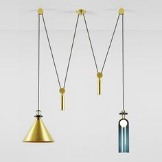 Love these pulleys and the form and material variation in the Shape Up range by New York's Ladies & Gentlemen Studio are great. #lighting
