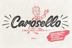 Typographie : Elle est gratuite et elle s'appelle « Carosello »