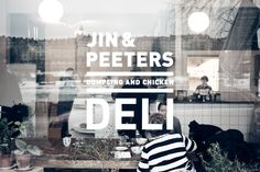 photo by peter olofsson Deli Shop, Cafe Shop, Signage Design, Facade Design, Exterior Design, Bakery Window Display, Window Signage, Window Graphics, Store Windows