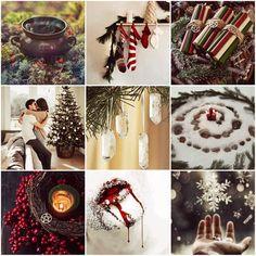 Kolvina Christmas Aesthetic (witch and vampire aesthetic) Strange Addictions, Witch Aesthetic, Summer Solstice, Christmas Aesthetic, Yule, Vampire Diaries, Nativity, Aesthetics, Christmas Tree