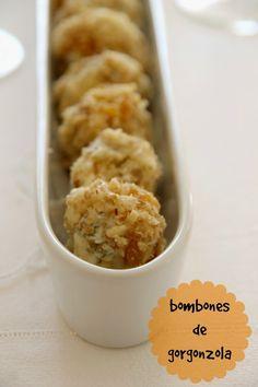 y tan flamenca!: receta: bombones de gorgonzola y orejones