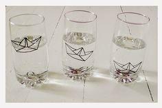 Gläser bemalen mit Glasmalstiften